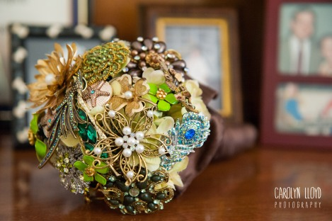 The brooch bouquet I made for my wedding, and forgot to carry!