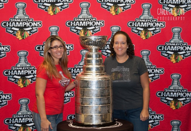 Let's go Hawks! (That's me on the right.)